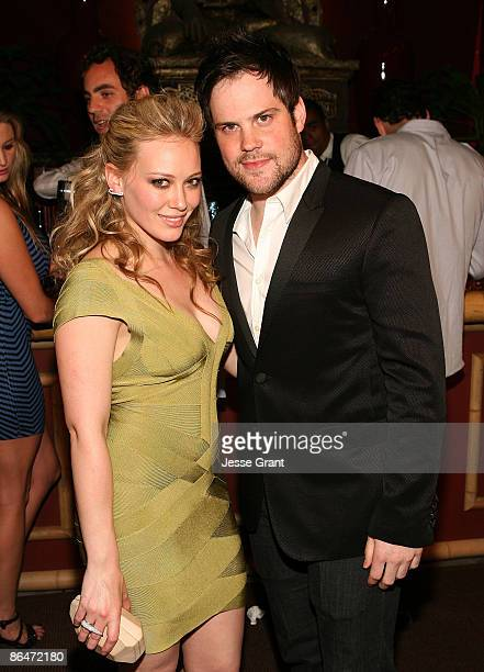 Hilary Duff and Mike Comrie attend the Herve Leger By Max Azaria Spring Collection Preview Party at Live On Sunset on May 6 2009 in West Hollywood...