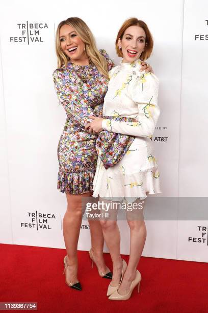 Hilary Duff and Molly Kate Bernard attend a screening of Tribeca TV Younger at Spring Studios on April 25 2019 in New York City