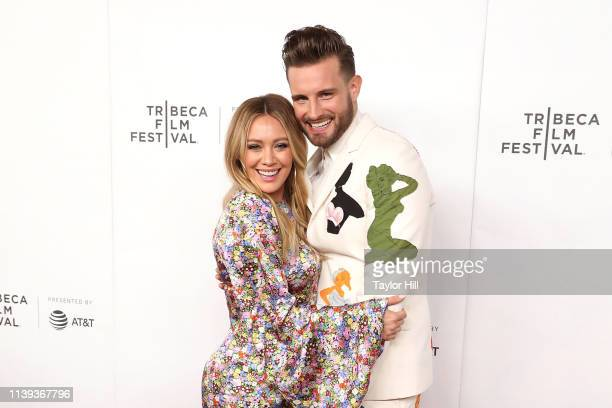 Hilary Duff and Nico Tortorella attend a screening of Tribeca TV Younger at Spring Studios on April 25 2019 in New York City