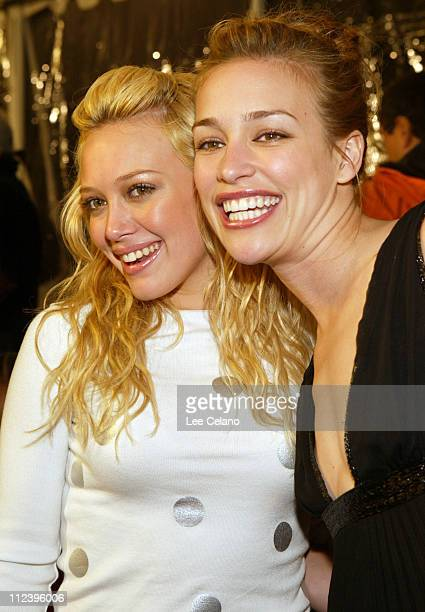 Hilary Duff and Piper Perabo during Cheaper by the Dozen Los Angeles Premiere Red Carpet at Mann's Grauman's Chinese Theatre in Hollywood California...