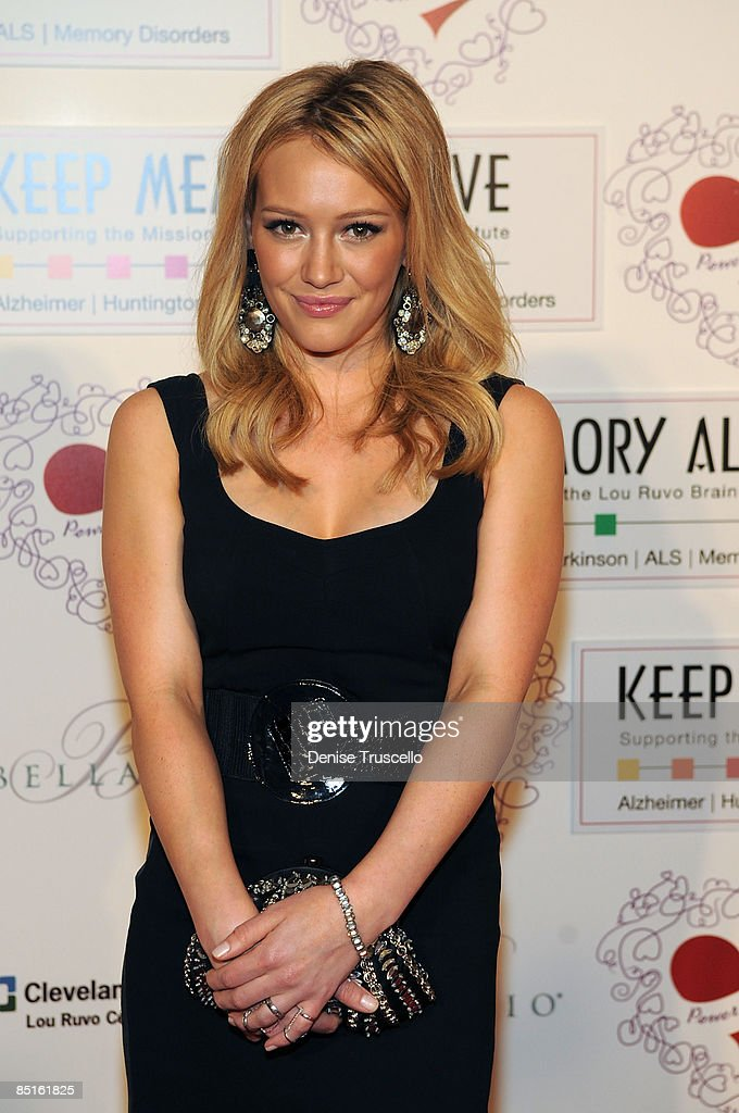 Hilary Duff arrives at the 13th Annual 'Keep Memory Alive' gala to benefit Lou Ruzo Center for Brain Health at The Bellagio Hotel and Casino on February 28, 2009 in Las Vegas, Nevada.