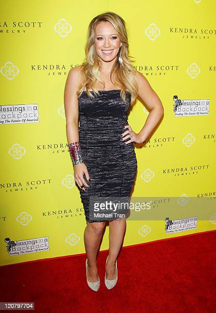 Hilary Duff arrives at the grand opening party for Kendra Scott Jewelry of Beverly Hills held at Andaz on August 10 2011 in West Hollywood California