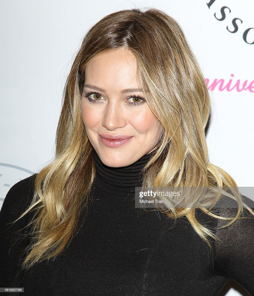 Hilary Duff arrives at the PGA TOUR Wives Association celebrates its 25th Anniversary held at Fairmont Miramar Hotel on February 11, 2013 in Santa Monica, California.