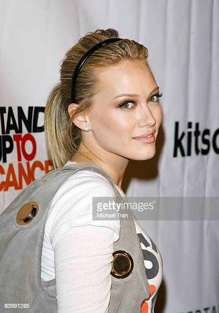 Hilary Duff arrives to the Stand Up To Cancer launch event held at Kitson Studio on December 10 2008 in Los Angeles California