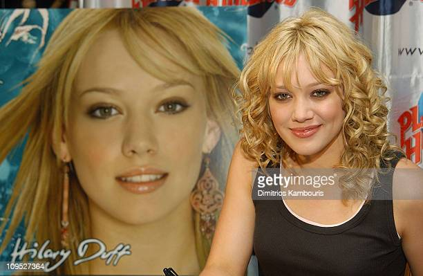 Hilary Duff at Planet Hollywood in Times Square to meet fans and celebrate the release of her new CD Metamorphosis