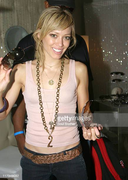Hilary Duff at Sunglass Hut during 2005 MTV VMA Sunglass Hut Suite Day 3 at Sagamore Hotel in Miami Florida United States