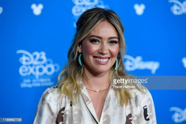 Hilary Duff attends D23 Disney+ Showcase at Anaheim Convention Center on August 23, 2019 in Anaheim, California.
