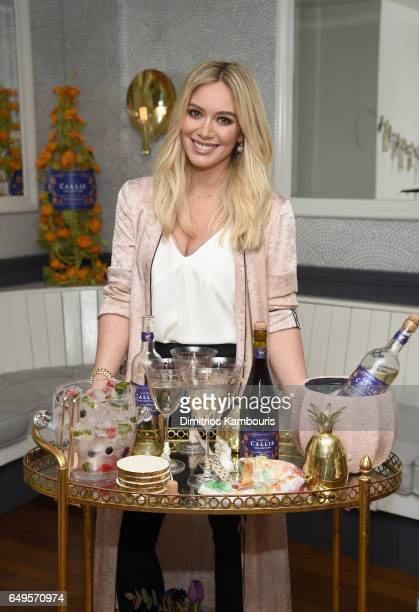 Hilary Duff attends the Callie Collection Wines launch event with Hilary Duff at La Sirena on March 7 2017 in New York City