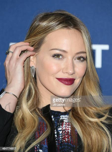 Hilary Duff attends the Delta Air Lines 2014 GRAMMY Weekend Private Reception And Performance With Lorde held at Soho House on January 23 2014 in...