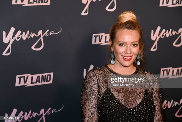 Hilary Duff attends the Younger Season 5 Premiere Party at Cecconi's Dumbo on June 4 2018 in Brooklyn New York