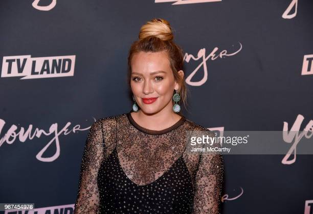 "Hilary Duff attends the ""Younger"" Season 5 Premiere Party at Cecconi's Dumbo on June 4, 2018 in Brooklyn, New York."