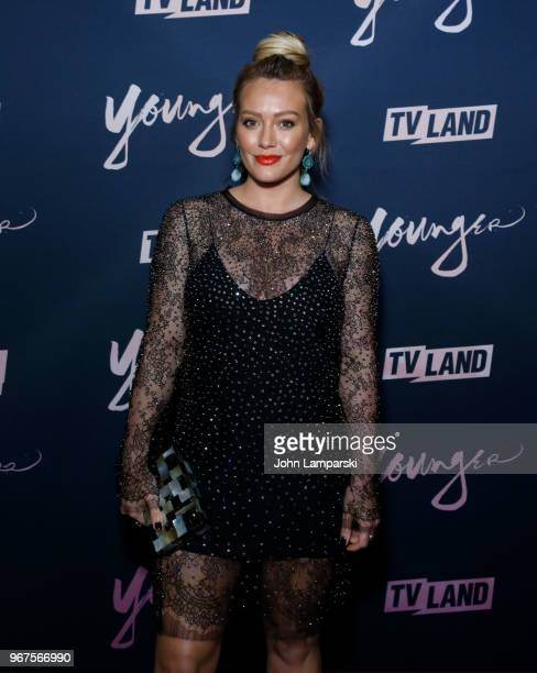 Hilary Duff attends 'Younger' season 5 premiere party at Cecconi's Dumbo on June 4 2018 in Brooklyn New York