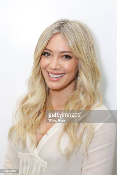Hilary Duff brightens up her blonde with celebrity hairstylist, Riawna Capri and Joico's Blonde Life on February 22, 2017 in Los Angeles, California.