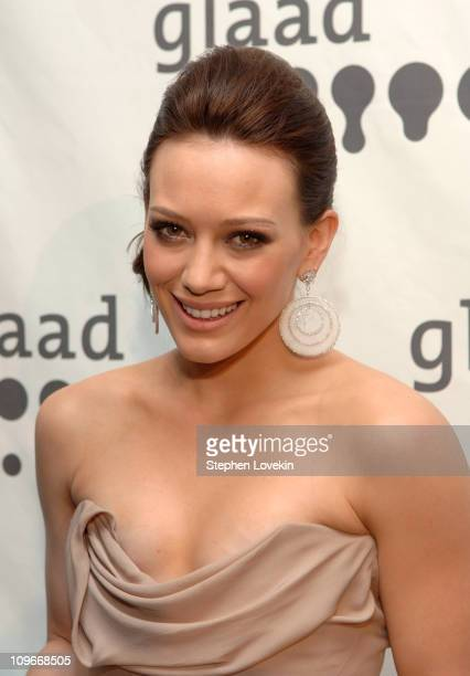 Hilary Duff during 18th Annual GLAAD Media Awards New York - Cocktails at Marriott Marquis in New York City, New York, United States.