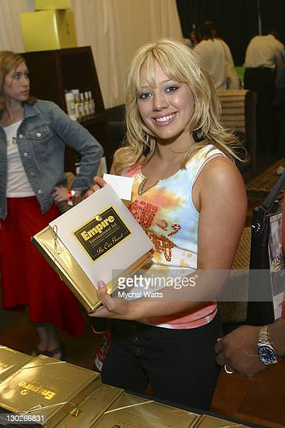 Hilary Duff during 2003 MTV Video Music Awards Backstage Creations Day 3 at Radio City Music Hall in New York City New York United States
