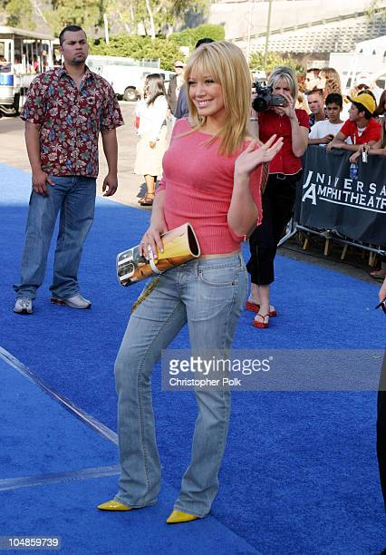 Hilary Duff during 2003 Teen Choice Awards Arrivals at Universal AmphiTheater in Universal City California United States