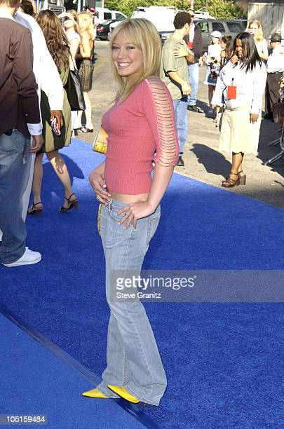 Hilary Duff during 2003 Teen Choice Awards Arrivals at Universal Amphitheatre in Universal City California United States