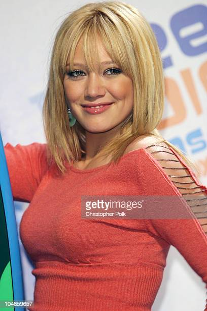 Hilary Duff during 2003 Teen Choice Awards Press Room at Universal Amphitheater in Universal City California United States