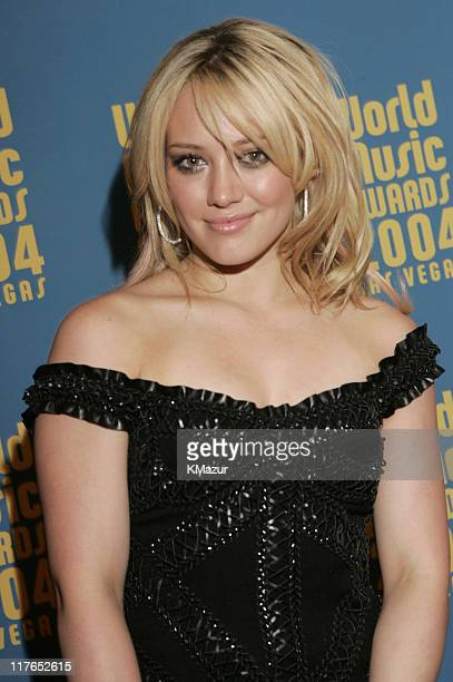 Hilary Duff during 2004 World Music Awards Red Carpet at The Thomas and Mack Center in Las Vegas Nevada United States