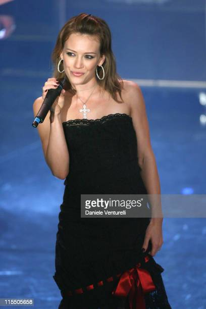 Hilary Duff during 56th San Remo Music Festival - Day 2 at Ariston Theatre in San Remo, Italy.