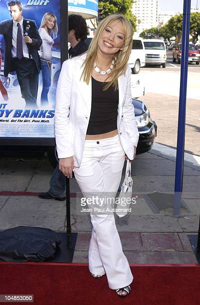 Hilary Duff during Agent Cody Banks World Premiere at Mann Village Theater in Westwood California United States