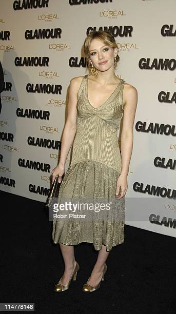 Hilary Duff during Glamour Magazine Salutes The 2005 Women of the Year Inside Arrivals at Avery Fisher Hall in New York City New York United States