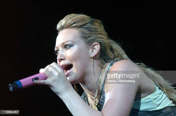 Hilary Duff during Haylie Duff and Hilary Duff in Concert July 25 2004 at Continental Arena in East Rutherford New Jersey United States
