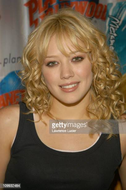 Hilary Duff during Hilary Duff Appears at Private VIP Reception at Planet Hollywood in New York City New York United States