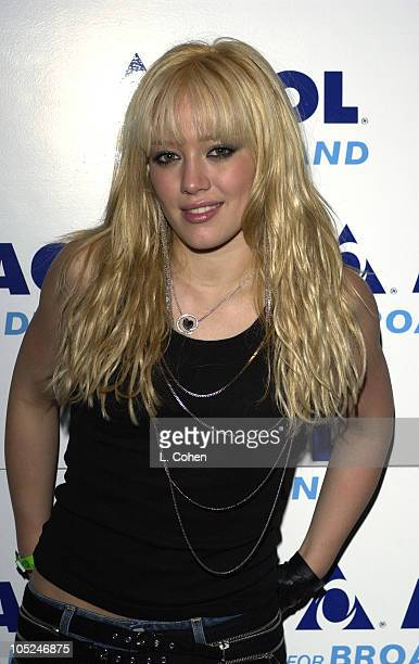 Hilary Duff during Hilary Duff Meet and Greet Pre AOL BroadBAND Rocks Concert at The Roxy in Los Angeles California United States