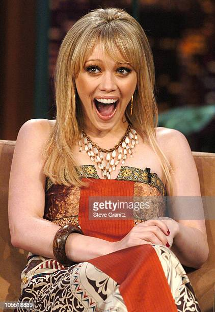Hilary Duff during Hilary Duff Visits 'The Tonight Show with Jay Leno' June 13 2005 at NBC Studios in Burbank California United States