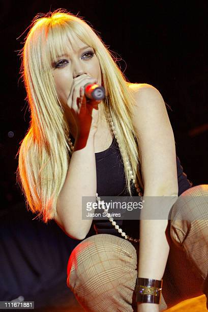 Hilary Duff during Jessica Simpson and Nick Lachey host Mix 933's Jingle Jam V in Kanas City on December 2 2003 at Uptown Theatre in Kansas City...