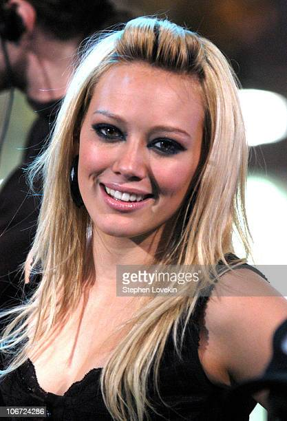 Hilary Duff during MTV's New Years Eve 2003 at Times Square in New York City New York United States