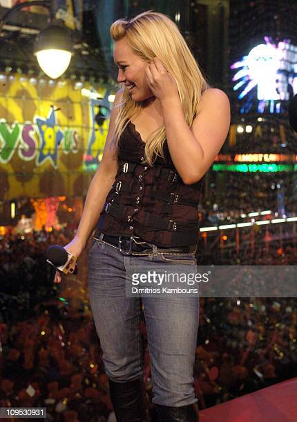 Hilary Duff during MTV's New Year's Eve 2004 Show at MTV Studios Times Square in New York City New York United States