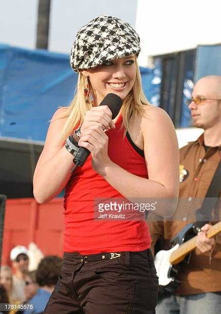 Hilary Duff during Nickelodeon Celebrates Lets Just Play Campaign at Nickelodeon Studios On Sunset in Hollywood CA United States