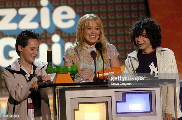 Hilary Duff during Nickelodeon's 16th Annual Kids' Choice Awards 2003 Show at Barker Hangar in Santa Monica California United States