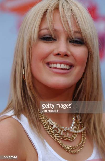 Hilary Duff during Nickelodeon's 17th Annual Kids' Choice Awards Arrivals at Pauley Pavillion in Westwood California United States