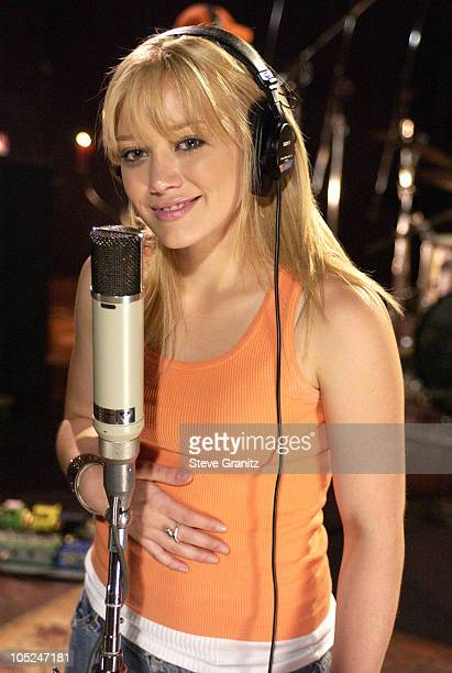 Hilary Duff during Recording of Sessions @ AOL with Hilary Duff in Hollywood California United States