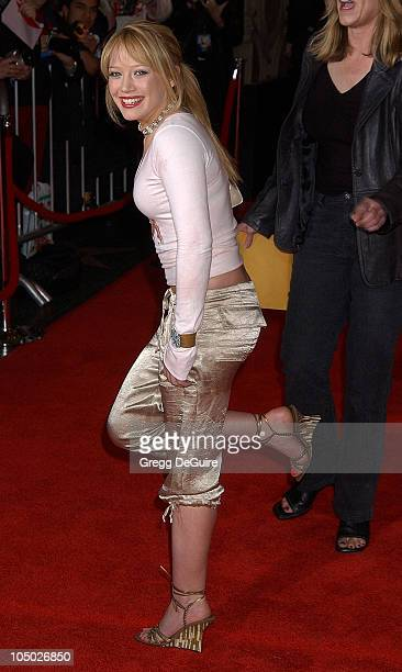 Hilary Duff during 'Shanghai Knights' Premiere Hollywood at The El Capitan Theatre in Hollywood California United States