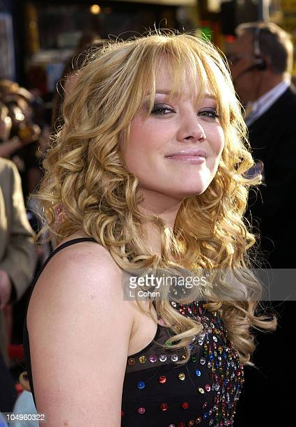 Hilary Duff during The Lizzie McGuire Movie Premiere at The El Capitan Theater in Hollywood California United States