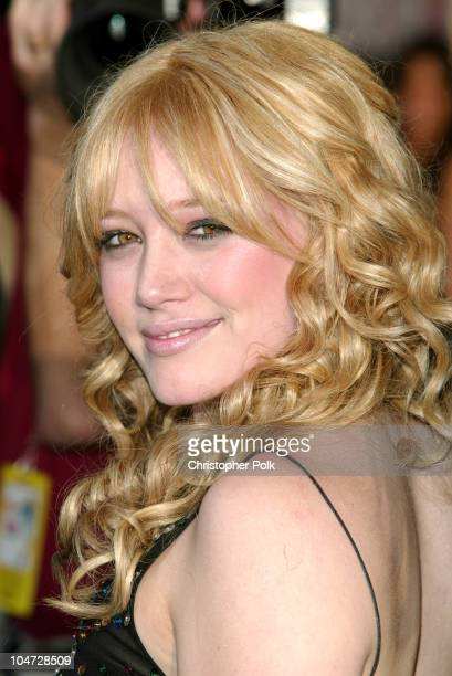 Hilary Duff during The Lizzy McGuire Movie Premiere at El Capitan Theater in Hollywood California United States