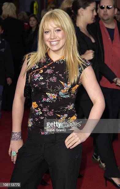 Hilary Duff during The World Premiere of Bruce Almighty at Universal Amphitheatre in Universal City California United States