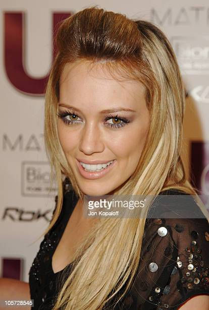 Hilary Duff during US Weekly Jessica Simpson Celebrate The Young Hot Hollywood Style Awards at Element Hollywood in Hollywood California United States
