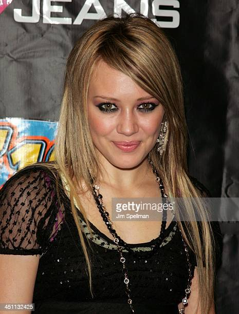 Hilary Duff during Z100's Jingle Ball 2004 Press Room at Madison Square Garden in New York City New York United States