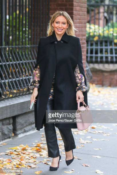Hilary Duff is seen at the film set of the 'Younger' TV Series on November 11, 2020 in New York City.