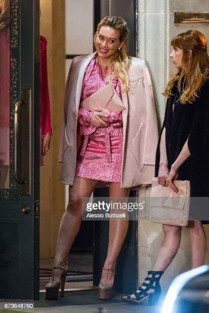 Hilary Duff is seen filming 'Younger' on April 26 2017 in New York New York