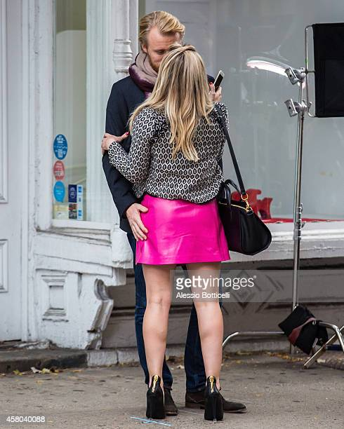Hilary Duff is seen filming 'Younger' on October 29, 2014 in New York City.