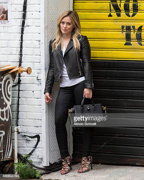 Hilary Duff is seen filming 'Younger' on October 7 2014 in in the Brooklyn Borough of New York