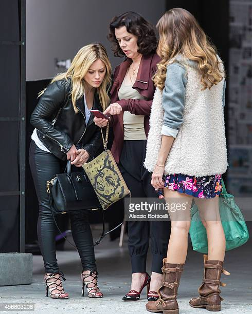 Hilary Duff is seen filming 'Younger' on October 7, 2014 in in the Brooklyn Borough of New York.