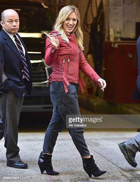 Hilary Duff is seen in Midtown on October 8 2014 in New York City