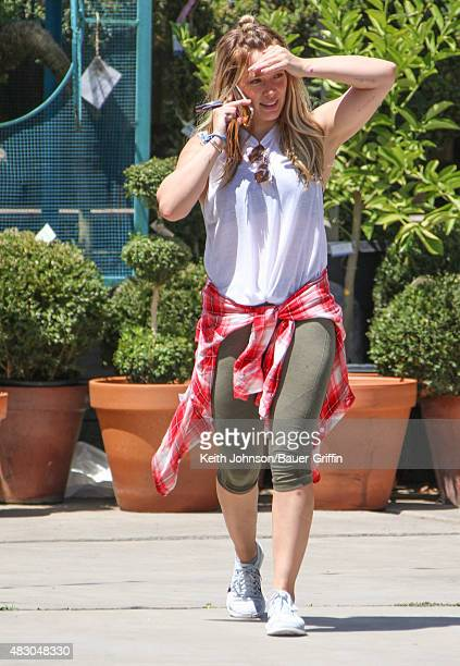 Hilary Duff is seen on August 05 2015 in Los Angeles California